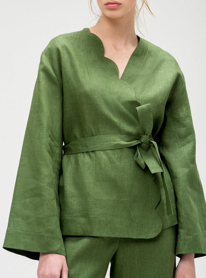 Льняной костюм с кюлотами BLCGR_BLCN_427, фото 1 - в интернет магазине KAPSULA