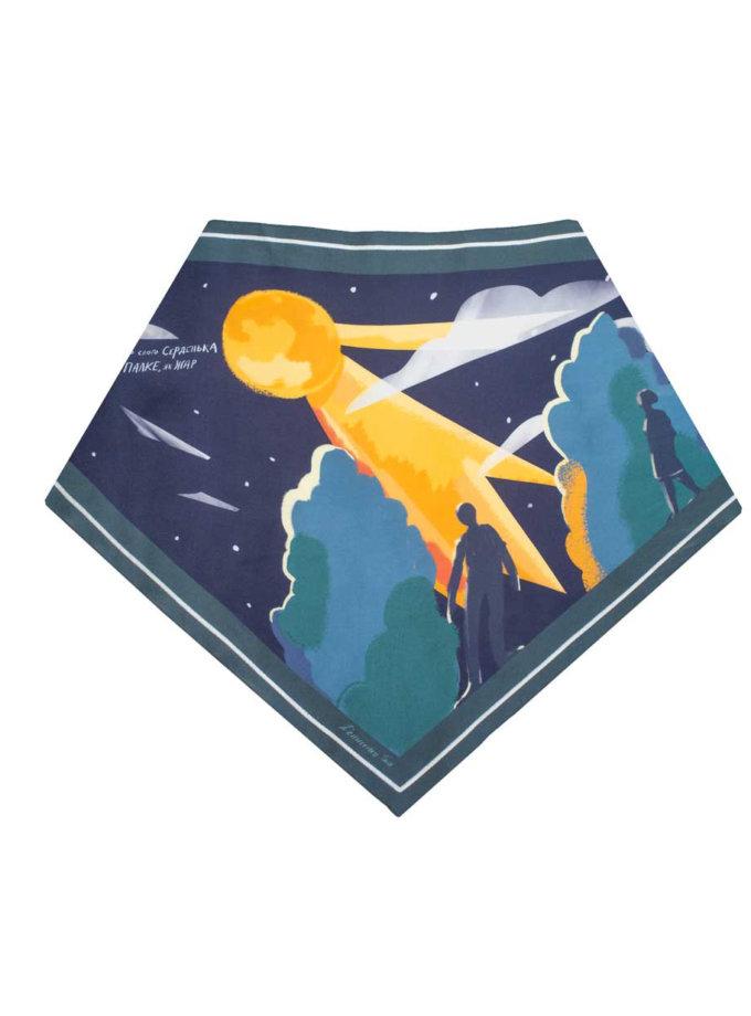 Весенний платок Ночь такая лунная NST_N1-spring, фото 1 - в интернет магазине KAPSULA