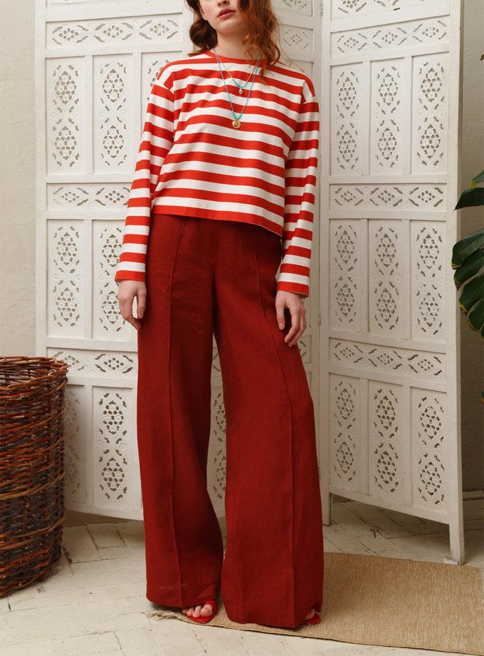 Широкие брюки из льна VONA_SSYA-21-05, фото 1 - в интеренет магазине KAPSULA