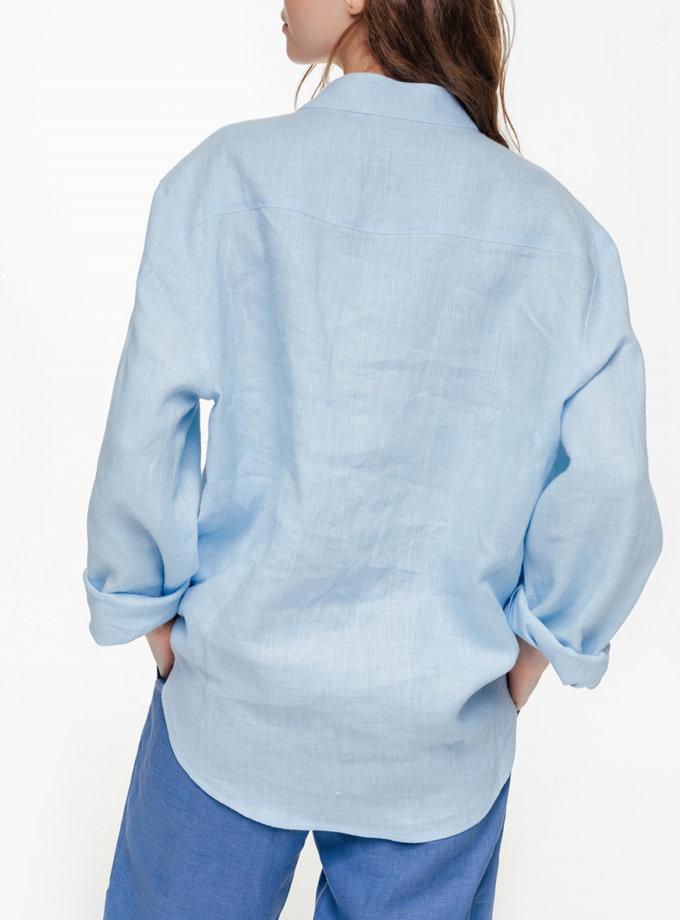 Льняная рубашка на пуговицах BLCGR_BLCN_674, фото 1 - в интернет магазине KAPSULA