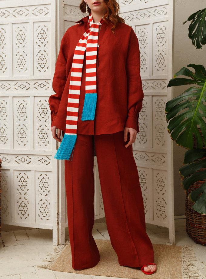 Широкие брюки из льна VONA_SSYA-21-05, фото 1 - в интернет магазине KAPSULA