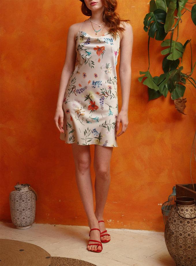 Платье мини с открытой спиной VONA_SSYA-21-09, фото 1 - в интернет магазине KAPSULA