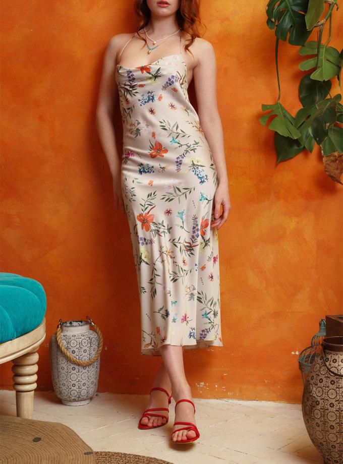 Платье миди с открытой спиной VONA_SSYA-21-10, фото 1 - в интернет магазине KAPSULA