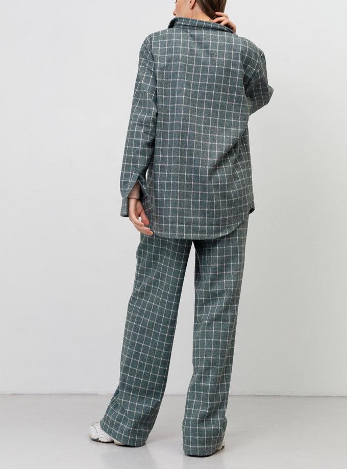 Костюм в клетку с брюками-клеш BLCGR_BLCN_764, фото 1 - в интернет магазине KAPSULA