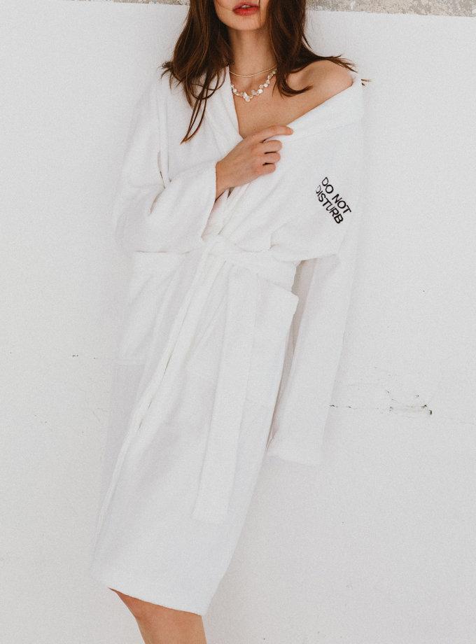 Велюровый халат DO NOT DISTURB BLCGR_BLCN_779, фото 1 - в интернет магазине KAPSULA