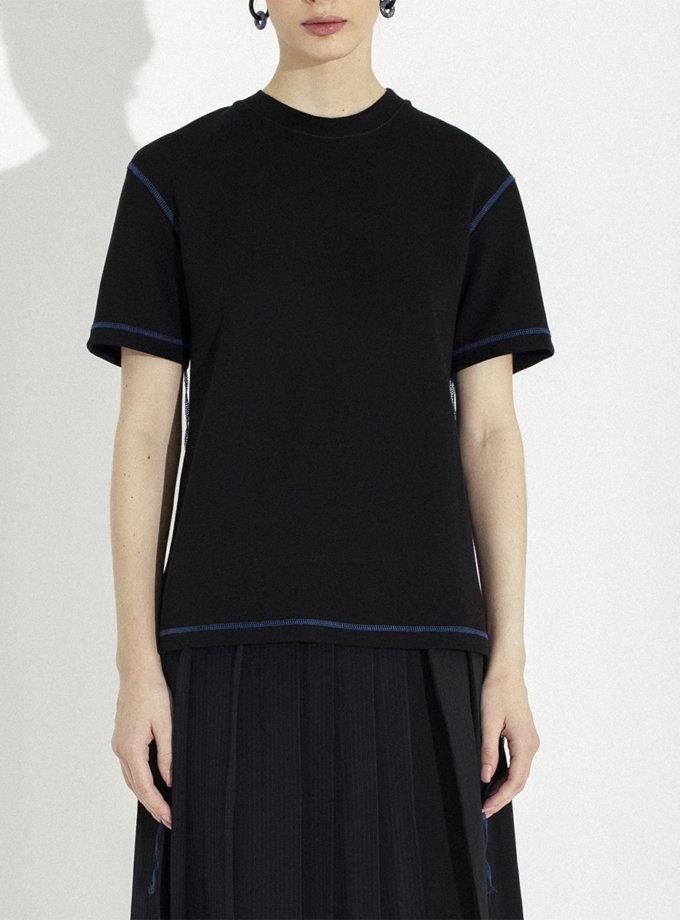 Бавовняна футболка з яскравою строчкою IR_WD_TB_002, фото 1 - в интернет магазине KAPSULA