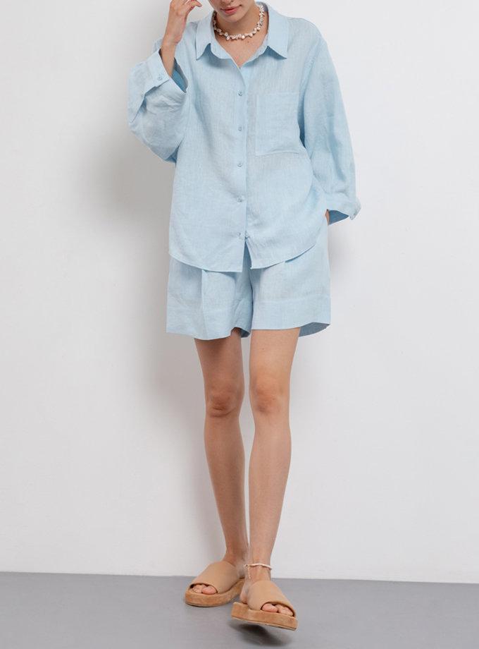 Рубашка из льна с широким рукавом BLCGR_BLCN_674, фото 1 - в интернет магазине KAPSULA