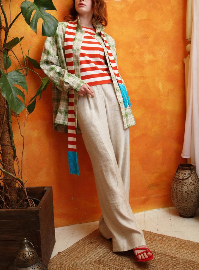 Широкие брюки из льна VONA_SS-21-30, фото 1 - в интернет магазине KAPSULA