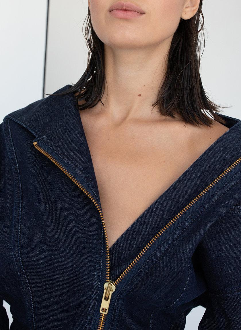 Платье с декоративной молнией AIS_D110_DB, фото 1 - в интернет магазине KAPSULA