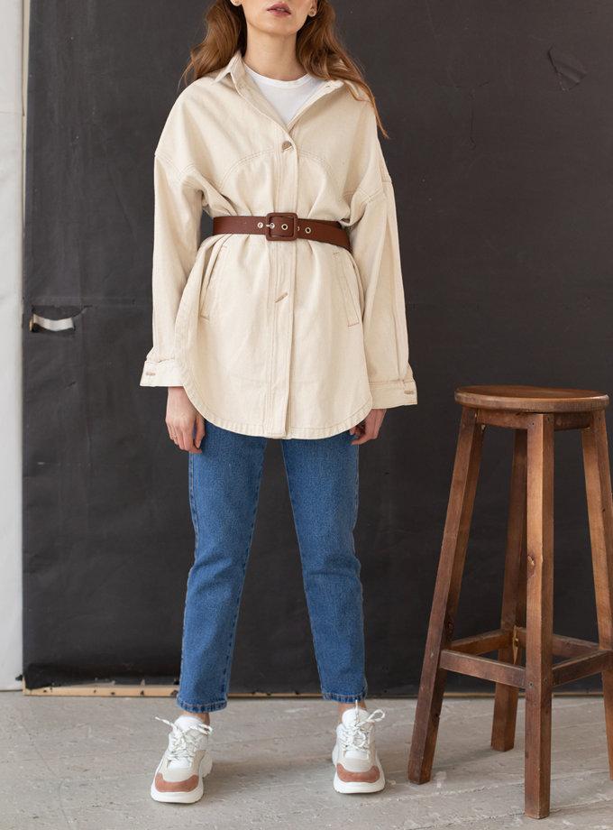 Куртка-рубашка из суровой хлопковой ткани AIS_D67_S, фото 1 - в интеренет магазине KAPSULA