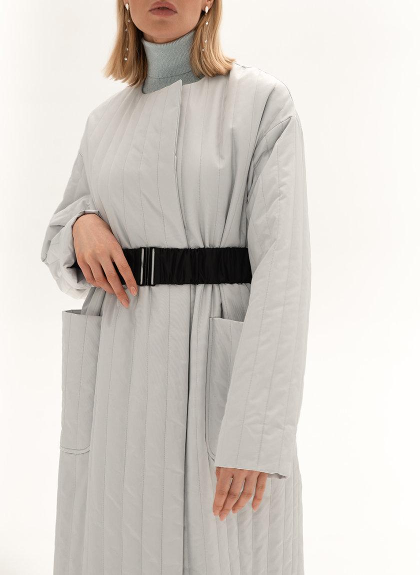 Стеганое пальто с поясом WNDR_sp_21_pspgr_03, фото 1 - в интернет магазине KAPSULA