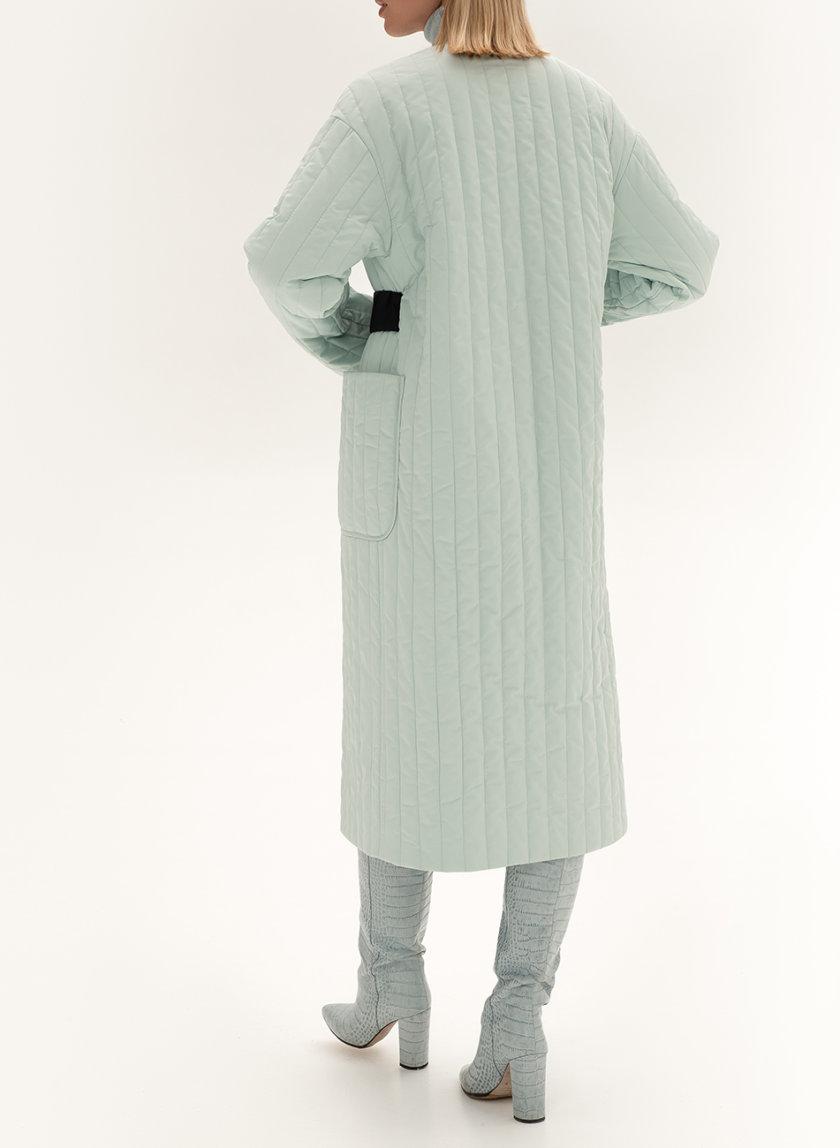 Стеганое пальто с поясом WNDR_sp_21_pspmt_03, фото 1 - в интернет магазине KAPSULA