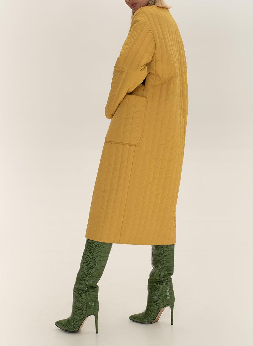 Стеганое пальто с поясом WNDR_sp_21_pspye_03, фото 1 - в интернет магазине KAPSULA