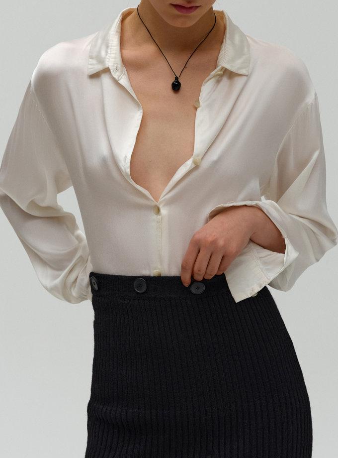 Шелковая блуза FORMA_FR-FW21-02, фото 1 - в интернет магазине KAPSULA