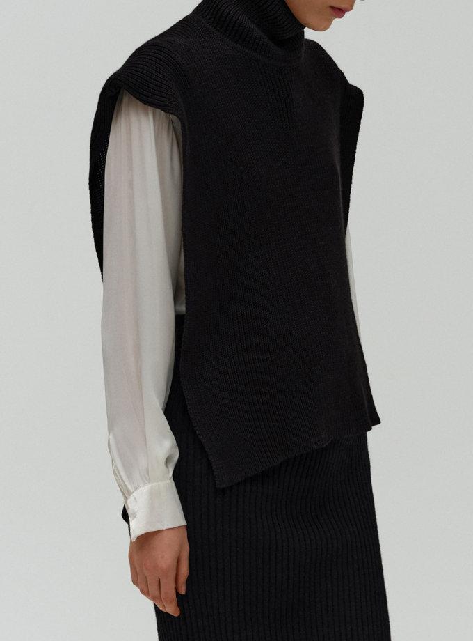 Жилет с открытой спиной из шерсти FORMA_FR-FW21-04, фото 1 - в интернет магазине KAPSULA