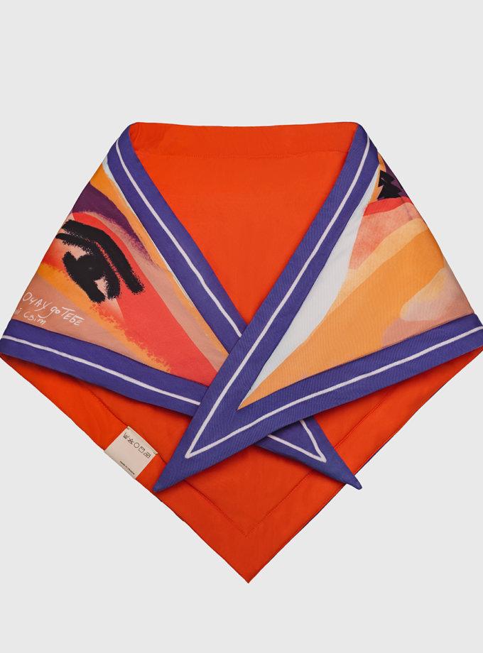 Утепленный платок Я пойду в далекие горы NST_G1, фото 1 - в интернет магазине KAPSULA
