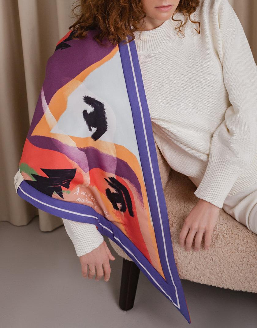 Утепленный платок Я пойду в далекие горы NST_G1, фото 1 - в интеренет магазине KAPSULA