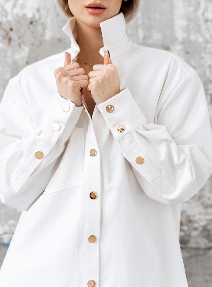 Джинсовая рубашка Kira MC_MY5521-1, фото 1 - в интеренет магазине KAPSULA