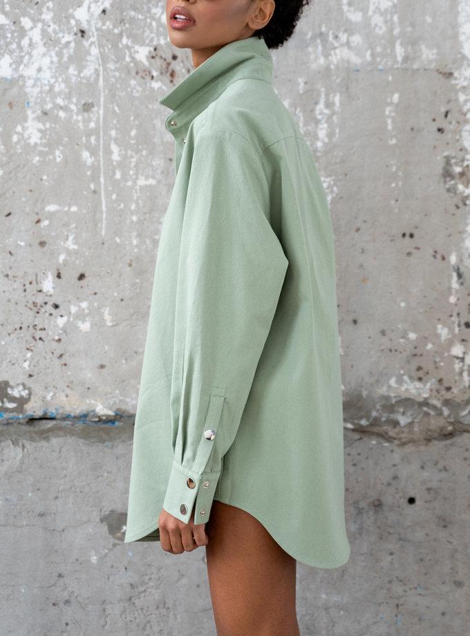 Джинсовая рубашка Kira MC_MY5521, фото 1 - в интернет магазине KAPSULA