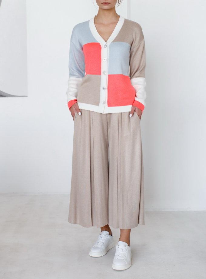 Укороченные брюки с карманами NBL_2101-CULPLEATBEG, фото 1 - в интернет магазине KAPSULA
