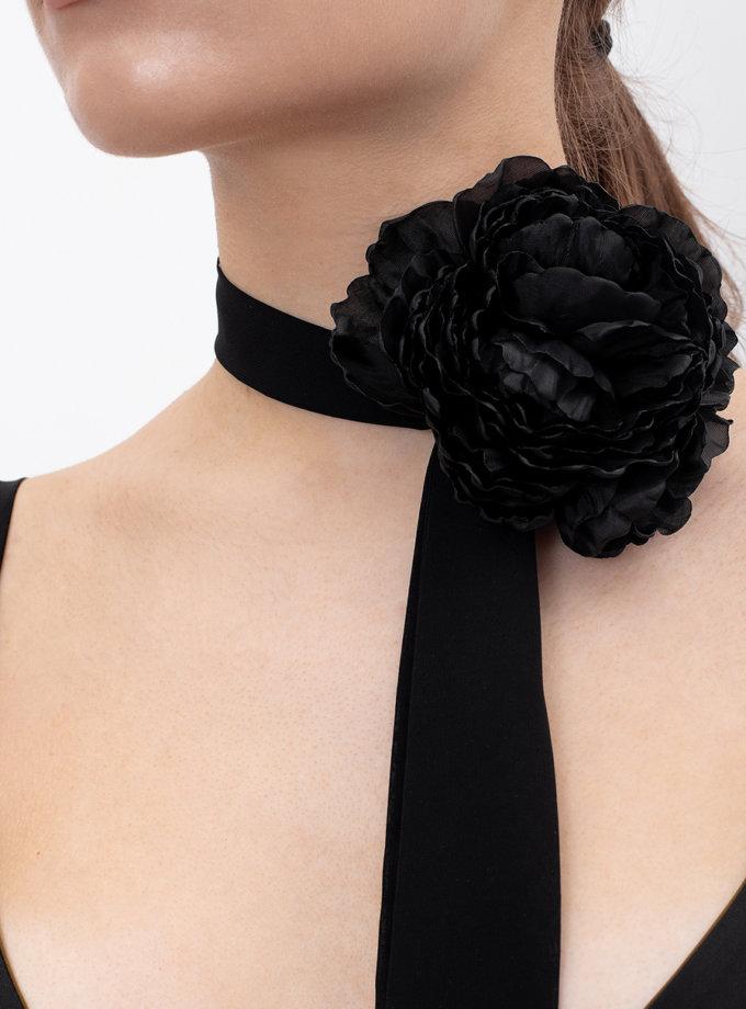 Брошь Черный цветок NT_ NTCK11B, фото 1 - в интернет магазине KAPSULA