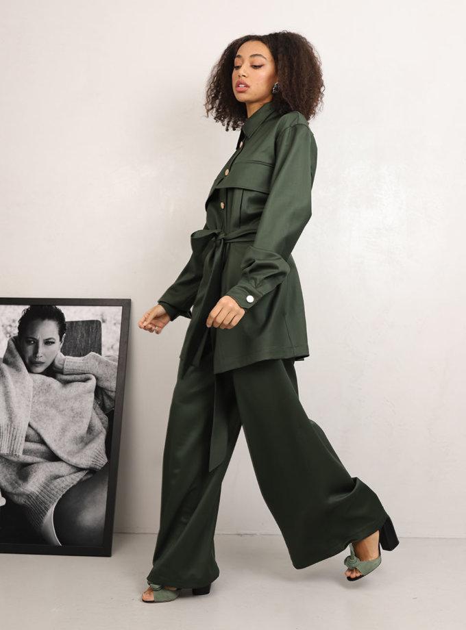 Широкие брюки из шерсти RVR_REFW20-1002GN, фото 1 - в интеренет магазине KAPSULA