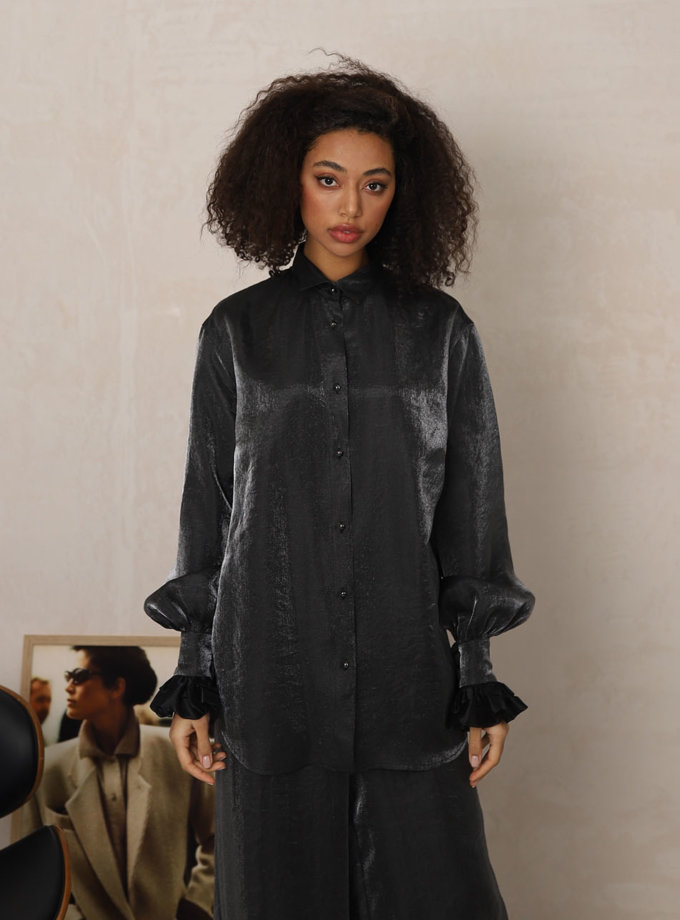 Блуза з рюшами RVR_REFW20-1005SL, фото 1 - в интеренет магазине KAPSULA