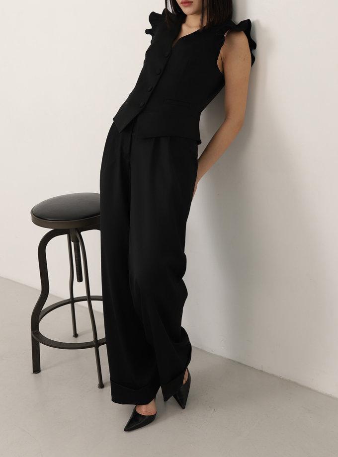 Широкие брюки из шерсти RVR_REFW20-1008BК, фото 1 - в интеренет магазине KAPSULA