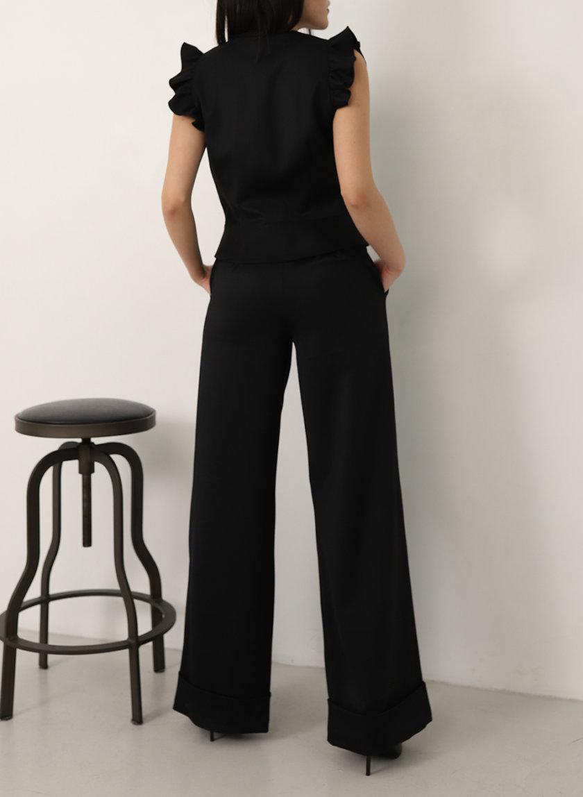 Широкие брюки из шерсти RVR_REFW20-1008BК, фото 1 - в интернет магазине KAPSULA