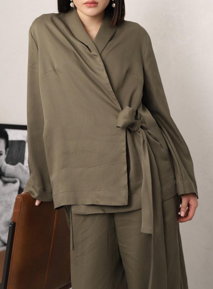 Блуза на запах RVR_REFW20-1021KK, фото 1 - в интеренет магазине KAPSULA