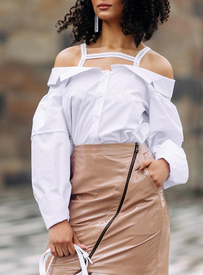 Блуза с открытыми плечами SE_SE9_Shrt_Nshldr, фото 1 - в интернет магазине KAPSULA