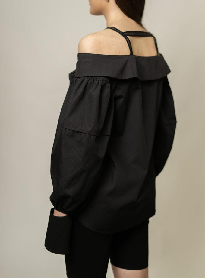 Блуза с открытыми плечами SE_SE9_Shrt_Nshldr_B, фото 1 - в интернет магазине KAPSULA