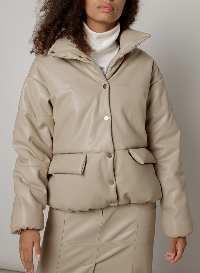 Объемная куртка из эко-кожи MRZZ_mz_100420, фото 1 - в интернет магазине KAPSULA
