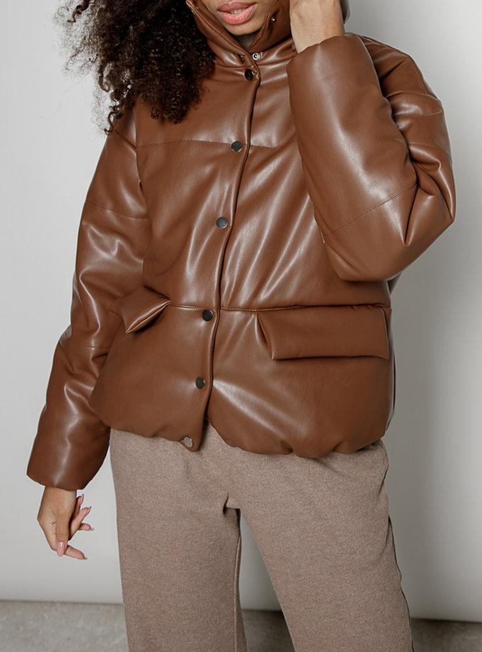 Объемная куртка из эко-кожи MRZZ_mz_100520, фото 1 - в интеренет магазине KAPSULA