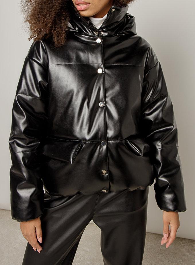 Объемная куртка из эко-кожи MRZZ_mz_100620, фото 1 - в интеренет магазине KAPSULA