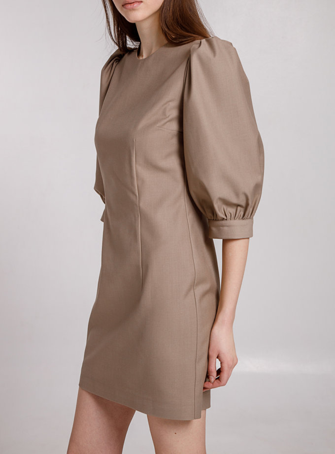 Платье с объемными рукавами MRZZ_mz_102221, фото 1 - в интернет магазине KAPSULA