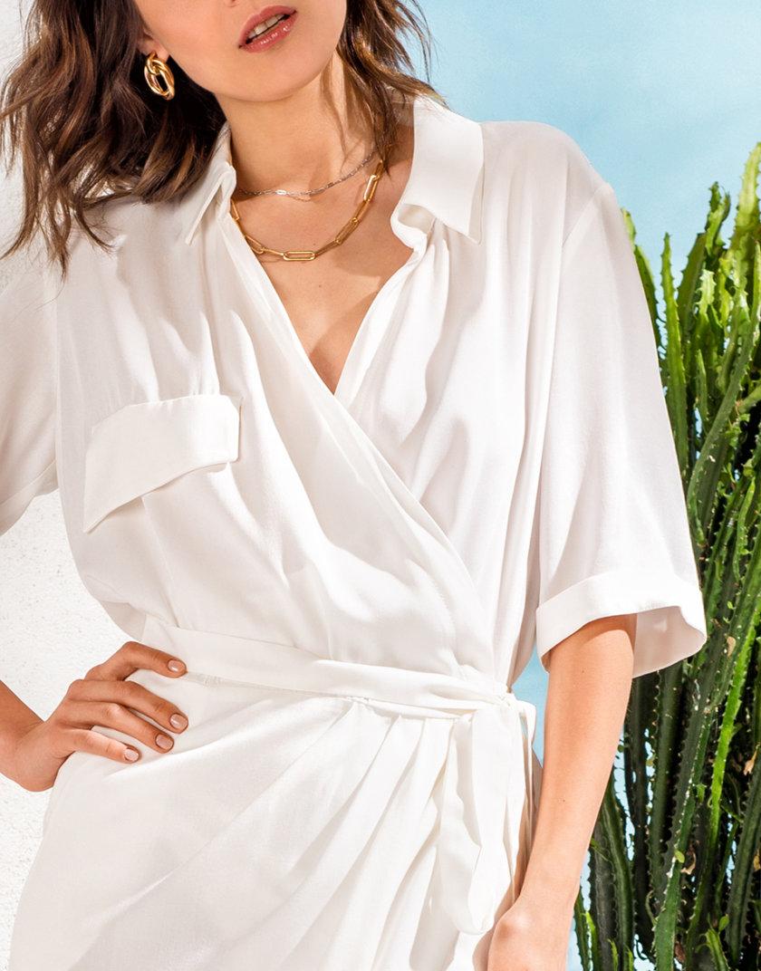 Платье-рубашка на запахе KS_SS24_11, фото 1 - в интернет магазине KAPSULA