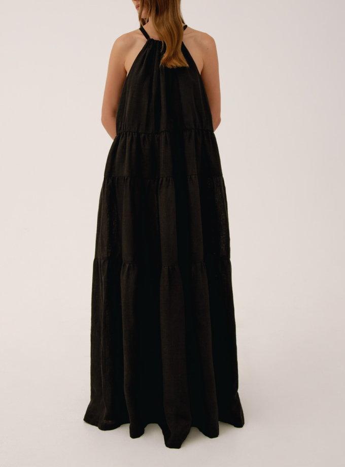 Льняное платье на кулиске LAB_00003, фото 1 - в интернет магазине KAPSULA