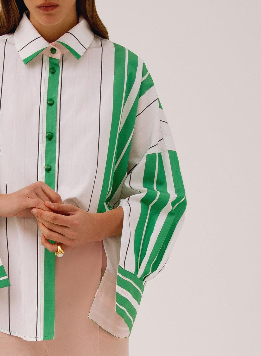 Хлопковая рубашка свободного кроя LAB_00006, фото 1 - в интернет магазине KAPSULA
