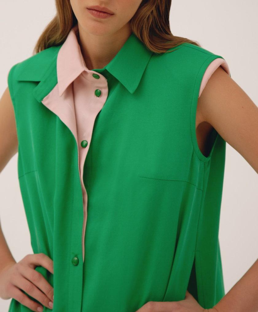 Рубашка с двойным воротником LAB_00012, фото 1 - в интернет магазине KAPSULA