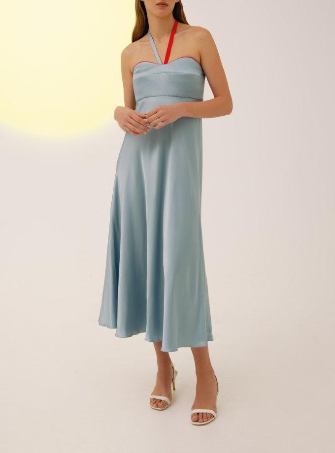 Платье миди с завязками LAB_00016, фото 1 - в интернет магазине KAPSULA