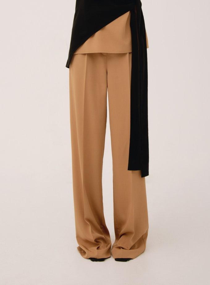 Широкие брюки на резинке LAB_00045, фото 1 - в интернет магазине KAPSULA