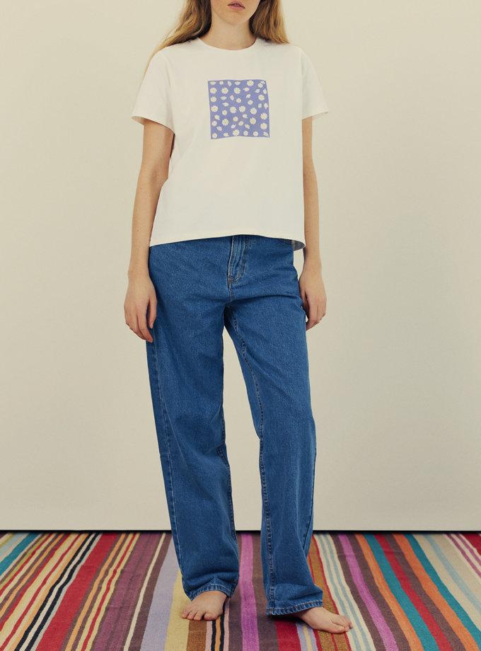 Бавовняна футболка з принтом KNIT_30013, фото 1 - в интернет магазине KAPSULA