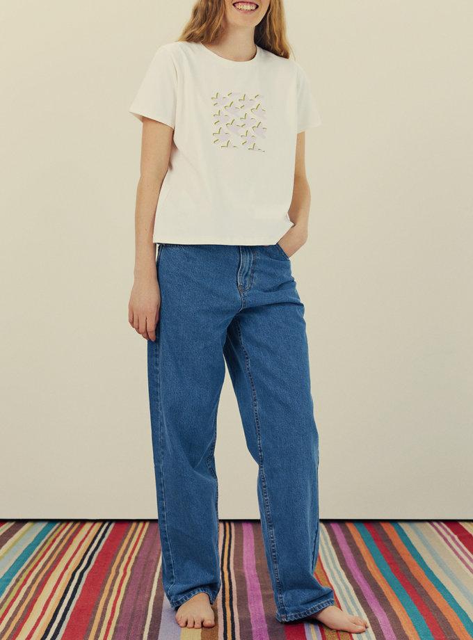 Бавовняна футболка з принтом KNIT_30014, фото 1 - в интернет магазине KAPSULA