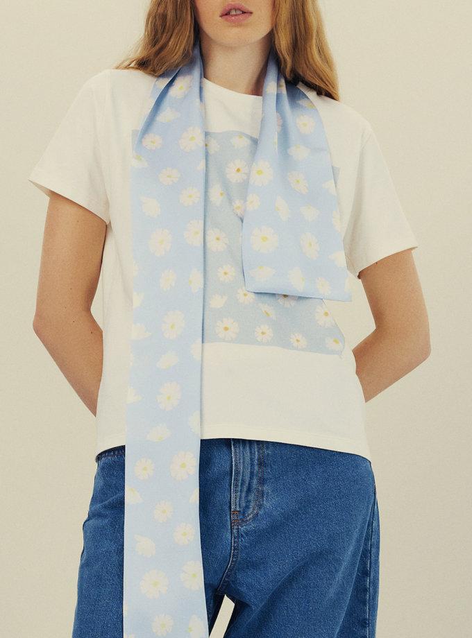 Бавовняна футболка з принтом KNIT_30018, фото 1 - в интернет магазине KAPSULA