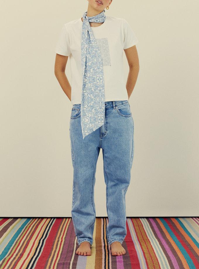 Хлопковая футболка с принтом KNIT_30016, фото 1 - в интернет магазине KAPSULA