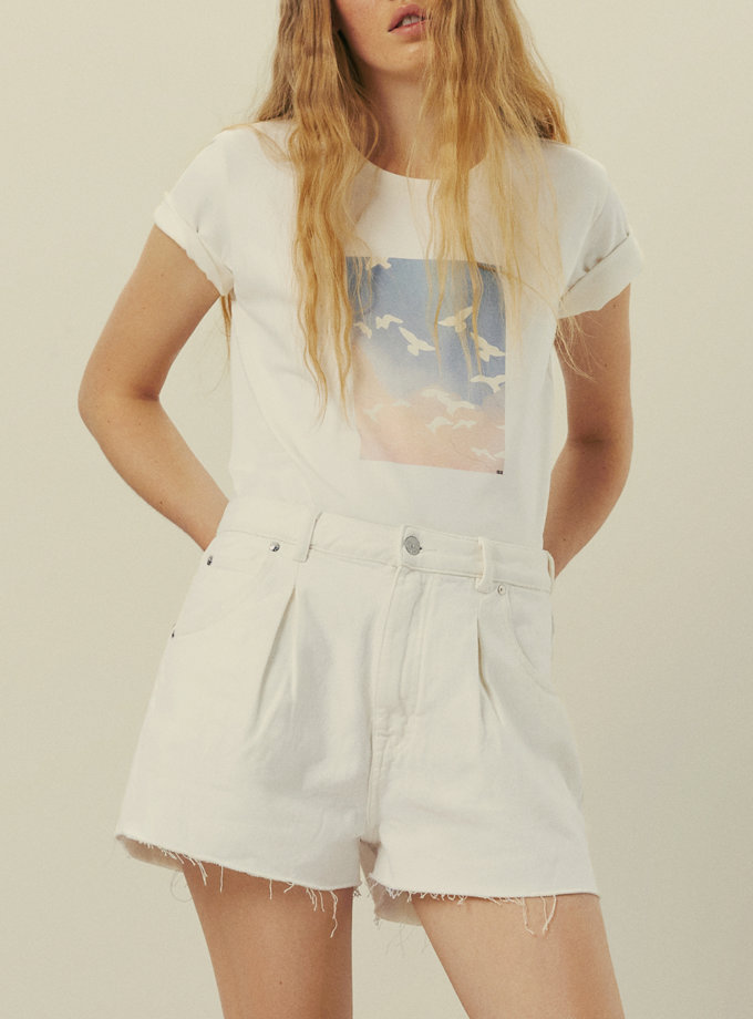 Бавовняна футболка з принтом KNIT_30017, фото 1 - в интернет магазине KAPSULA