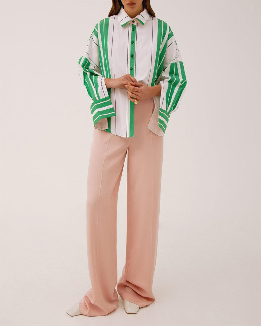 Прямые брюки с высокой талией LAB_00047, фото 1 - в интернет магазине KAPSULA