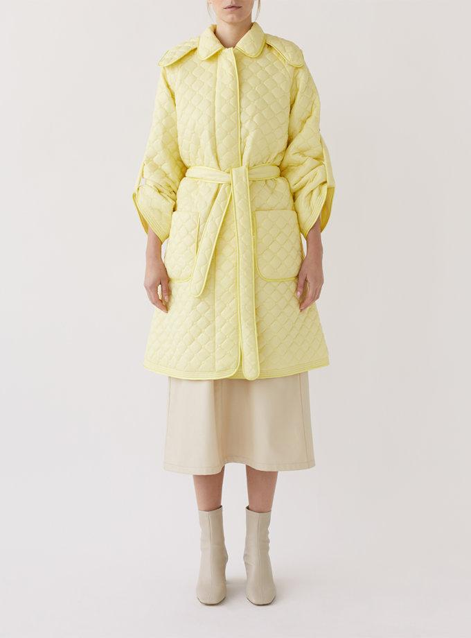 Стеганое пальто с поясом MRCH_Ekl04Y, фото 1 - в интернет магазине KAPSULA