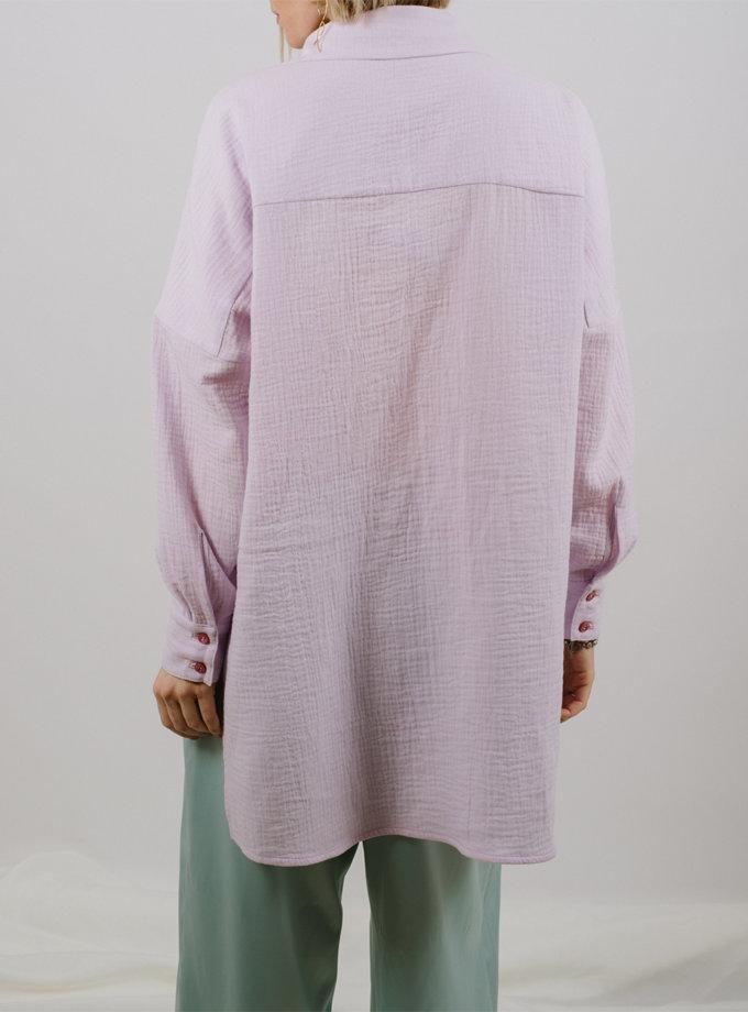 Хлопковая рубашка прямого кроя MNTK_MTS2126, фото 1 - в интернет магазине KAPSULA